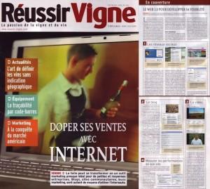 Article sur l'Agence Easy-Studio dans le Magazine Réussir Vigne
