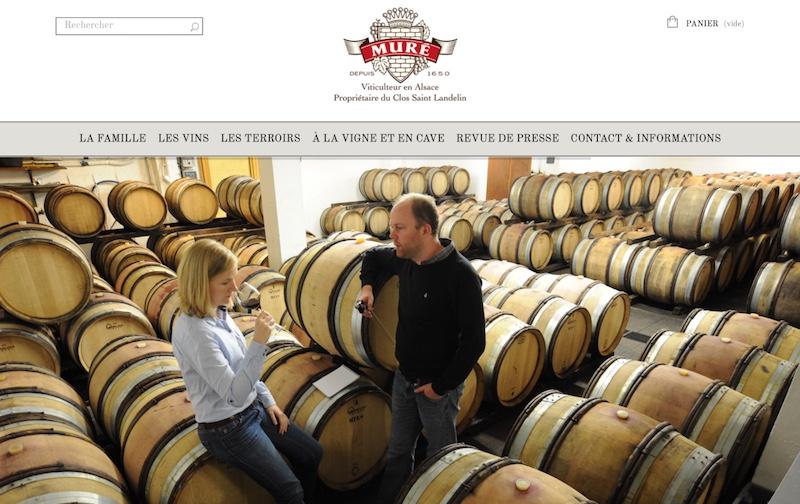 Visuel du site internet e-commerce créé en responsive design pour le site des Vins d'Alsace Muré
