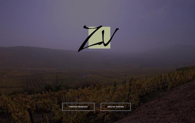 Visuel du site internet e-commerce créé en responsive design pour les vins d'alsace en biodynamie du domaine Valentin Zusslin à Orschwihr