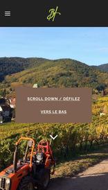 Aperçu sur mobile du site internet créé en responsive design pour les Vins d'Alsace Bernard Haas à Kaysersberg