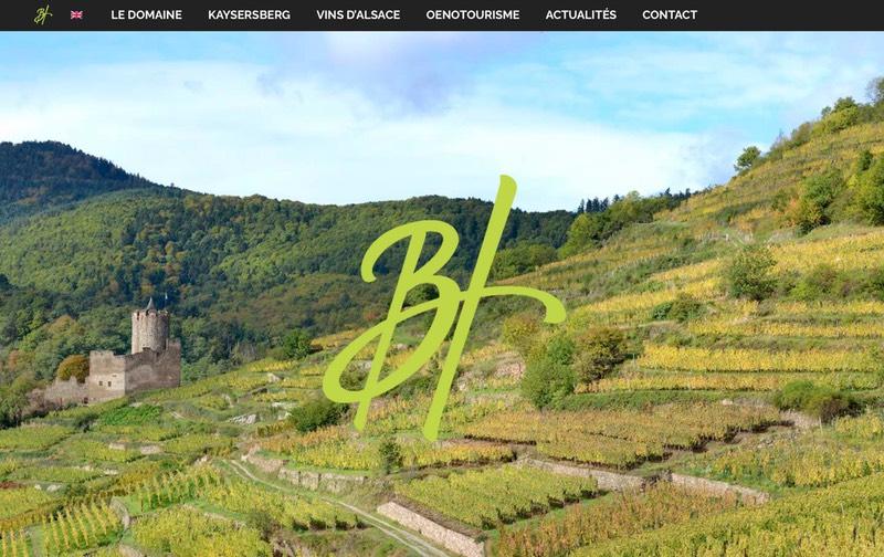 Visuel du site internet créé en responsive design pour les Vins d'Alsace Bernard Haas à Kaysersberg